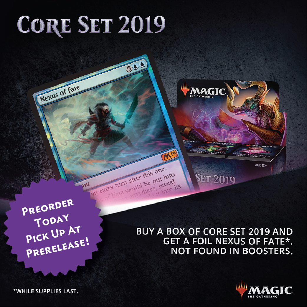 Core 2019 Preorders and Prerelease Events Available Now!