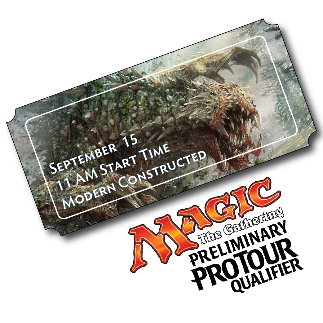 Preregister Today for our Sept 15th MODERN PPTQ!