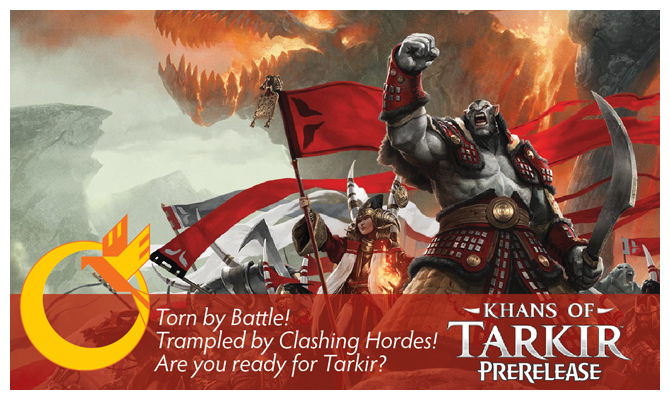 Khans of Tarkir Prerelease Header