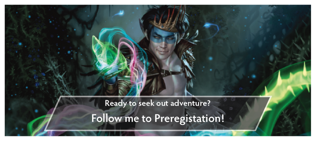Follow the link in this image to the preregistration page for our Throne of Eldraine prerelease events!